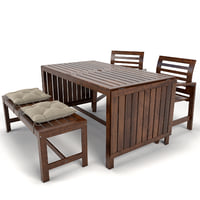 garden furniture applaro ikea 3D