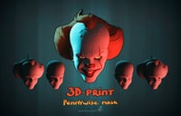 Pennuwise mask for 3d printing