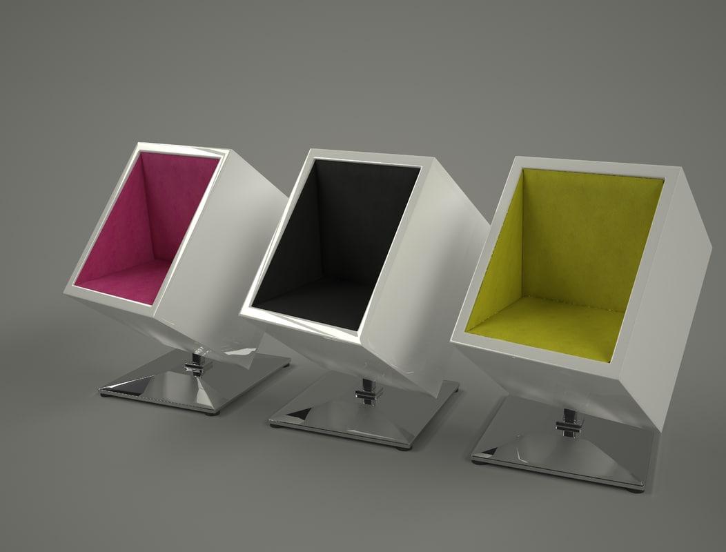 3D model chair box