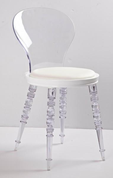 3D glass chair