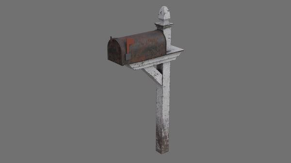 3D letter box 1b model