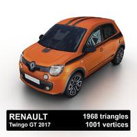 2017 renault twingo gt 3D model