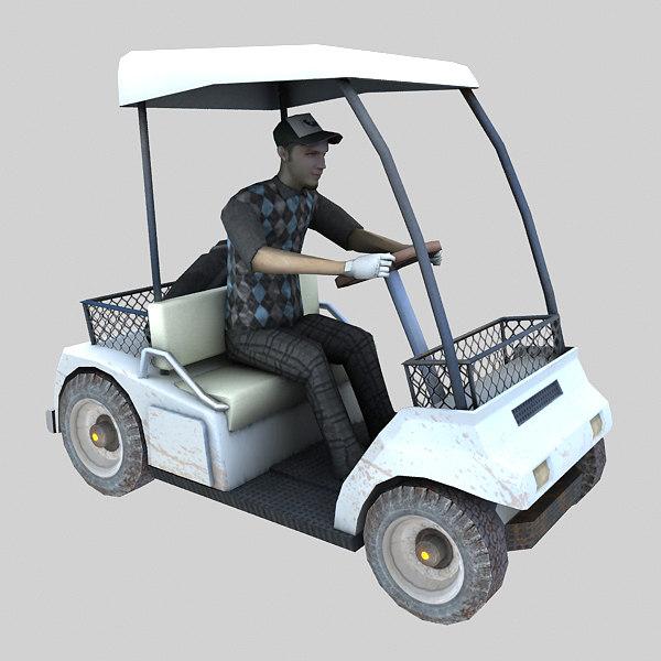 3D golf car model