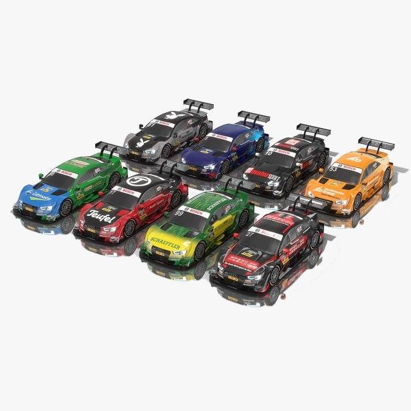 pack dtm audi cars 3D model