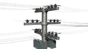 electric pole 3D