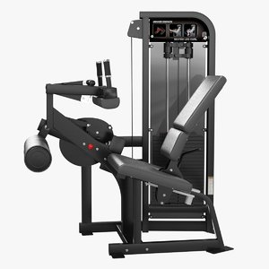 3D model seated leg curl hammer