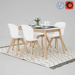 3D table boconcept billund aarhus