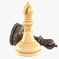 bishop - chess piece 3D