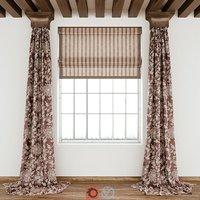 curtains fabric decoration 3D model