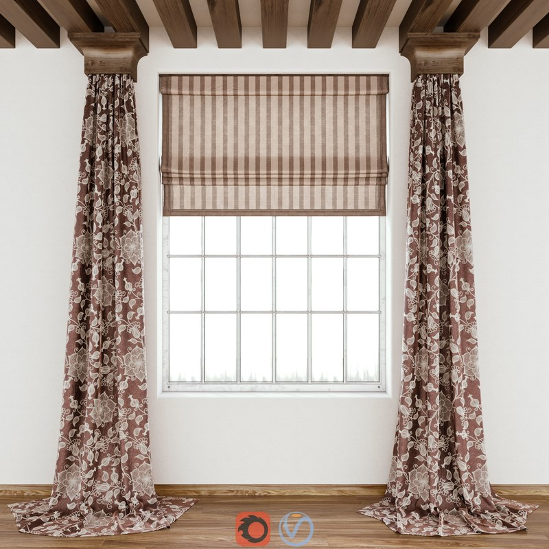 curtains fabric decoration 3D model
