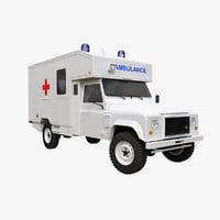 3D lr defender ambulance model