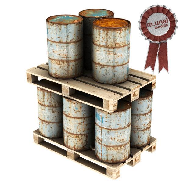 barrel pallet 3D