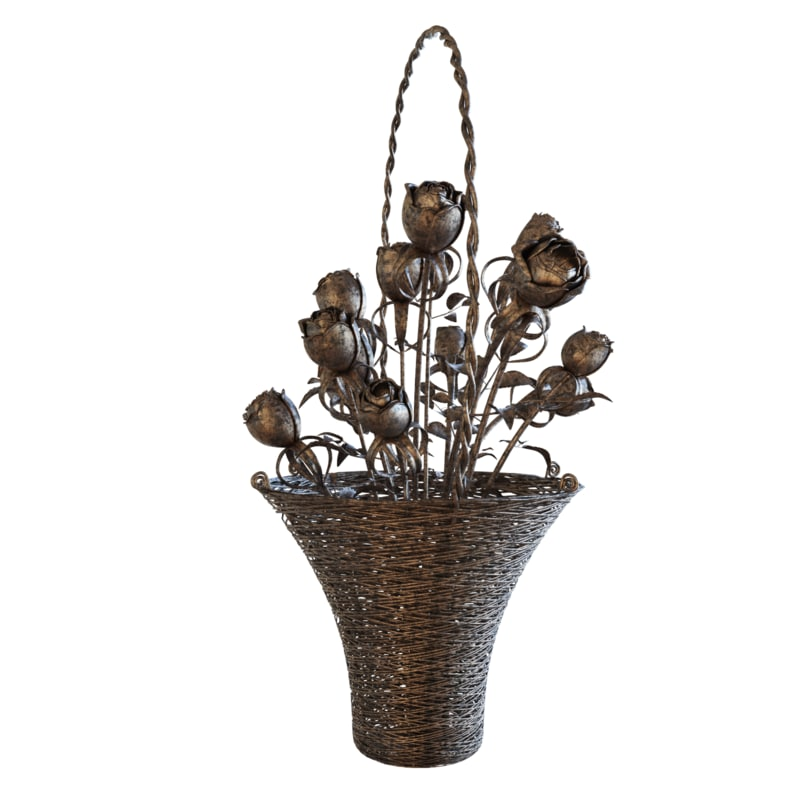 forged basket 3D