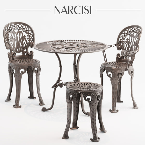 3D narcisi chair table