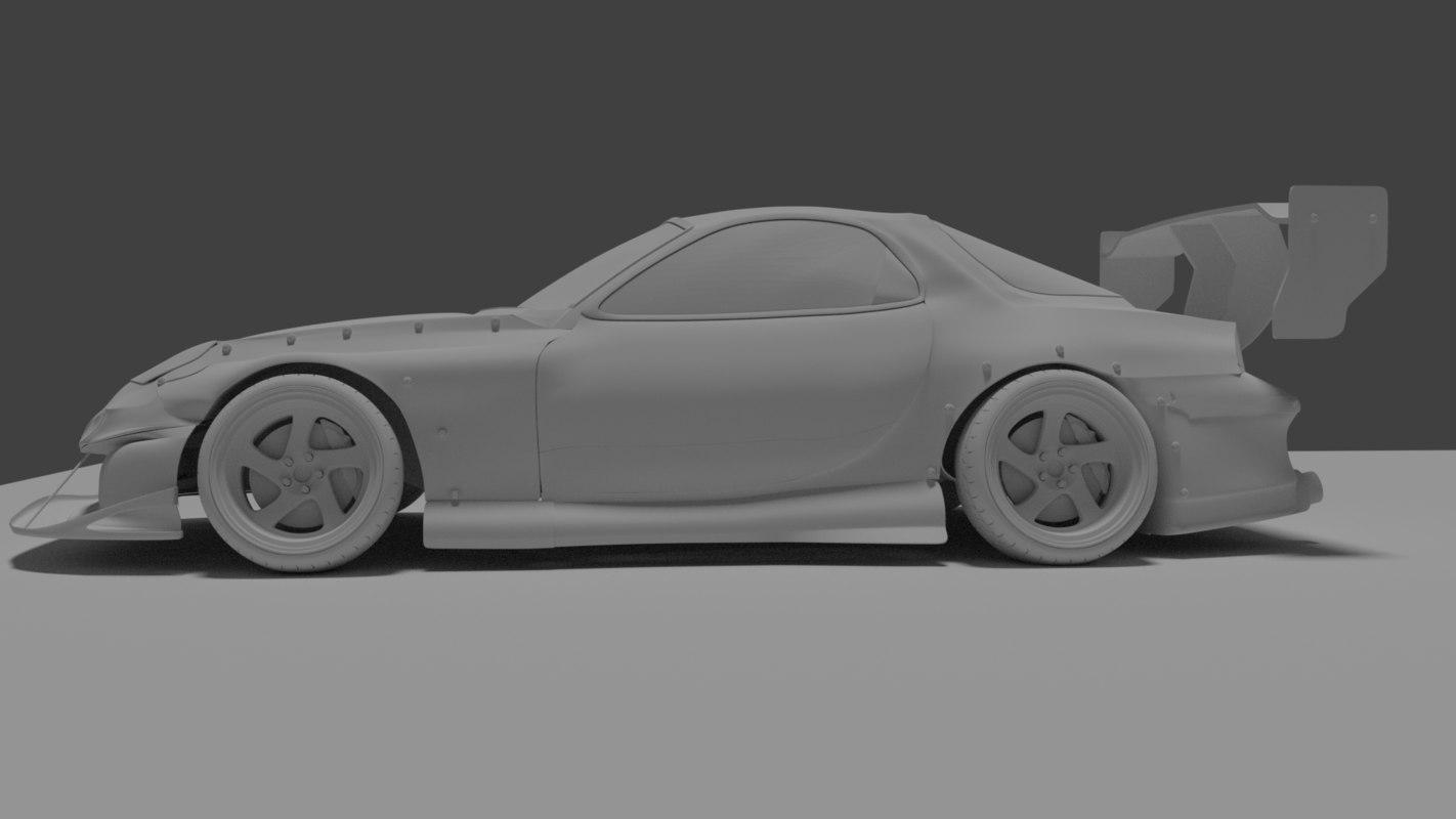 3D car racecar race model
