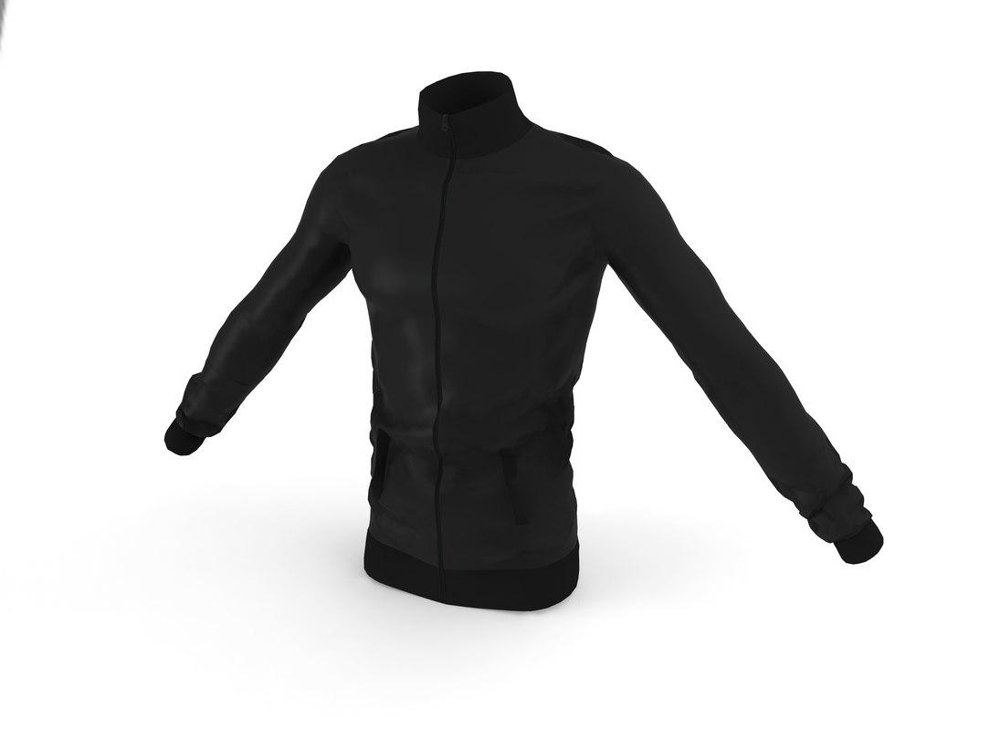 jacket black model