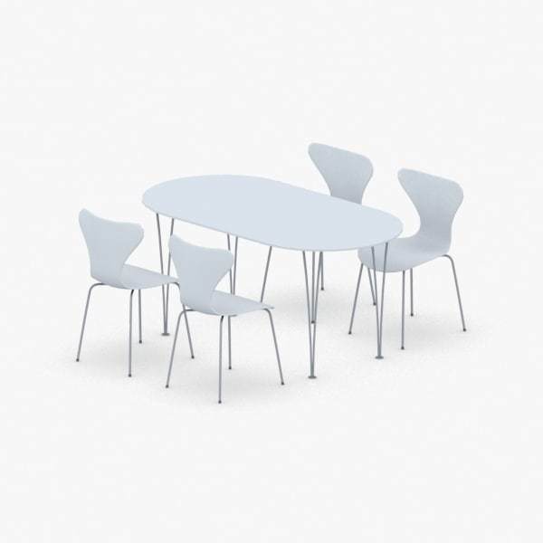 3D interior - sets chair table