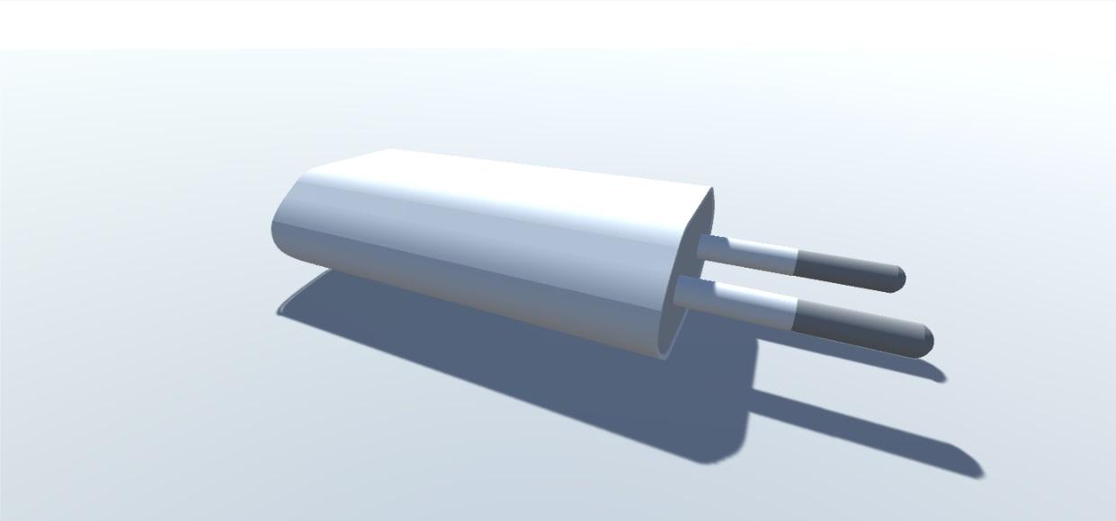 3D european usb power adapter