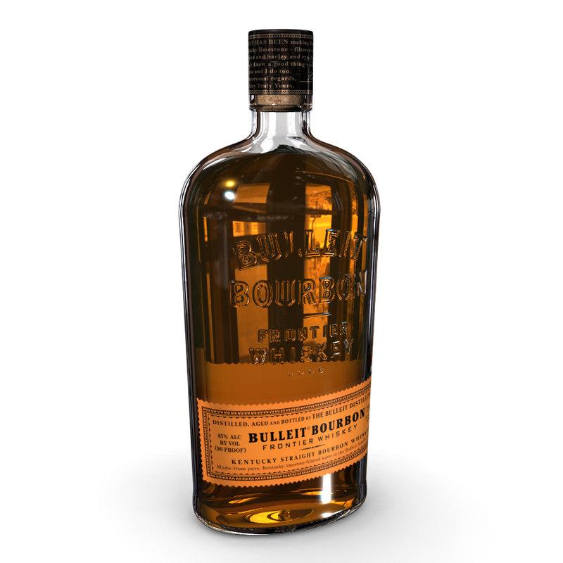 3D bulleit bourbon 75cl bottle