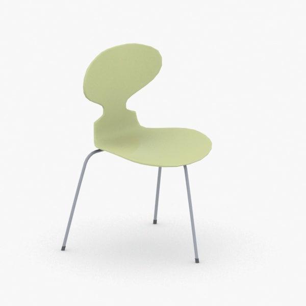 interior - chair stool 3D model