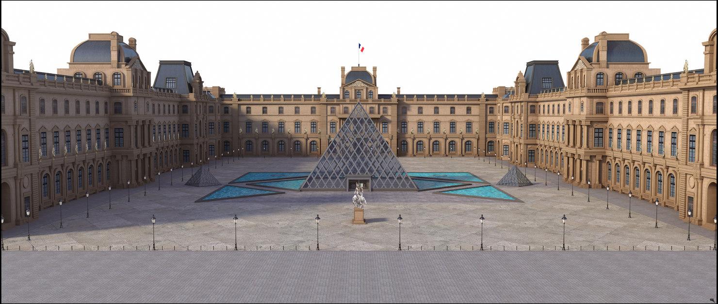 3D model louvre paris