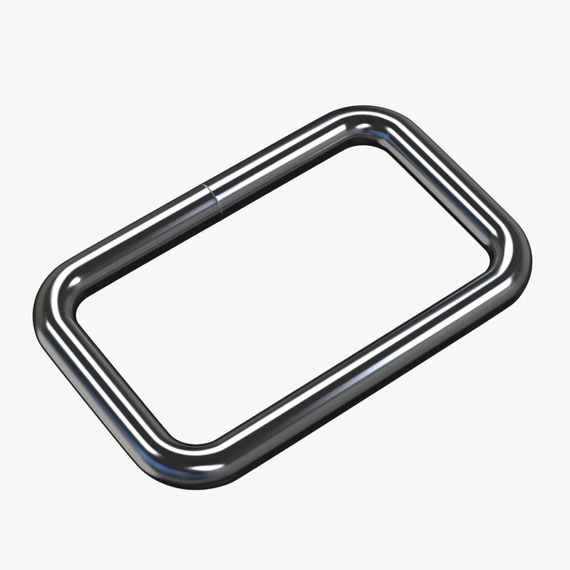 metal dee ring d 3D