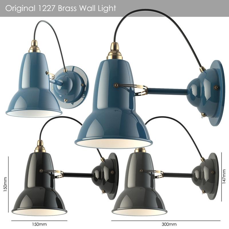 wall original 1227 brass 3D model