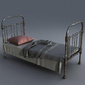 3D model old bed
