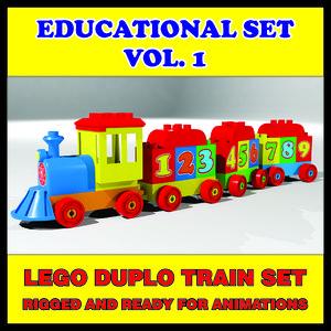 lego duplo train 3D