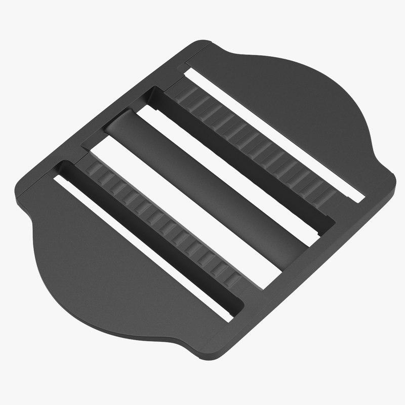 3D model strap adjuster plastic ladder