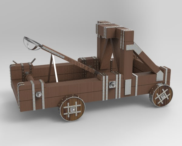 3D catapult antique