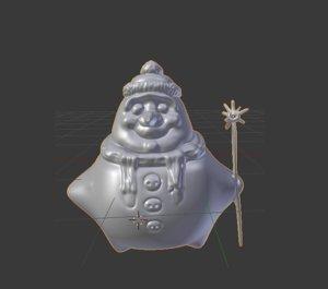 xmas snowman model