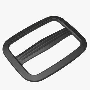 3D model single strap adjuster piece