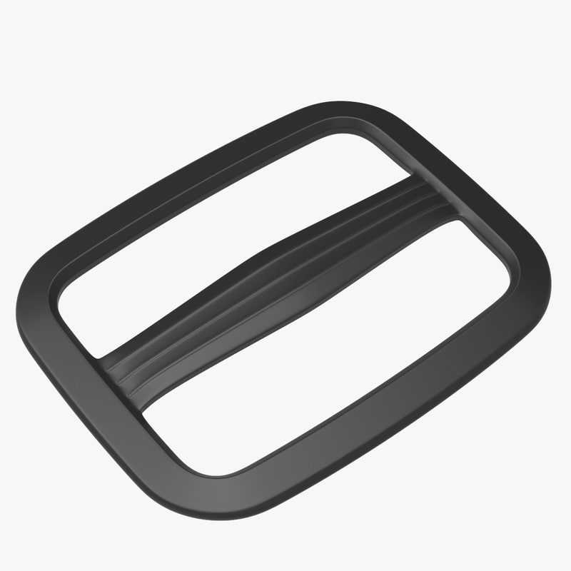 3D model single strap adjuster piece