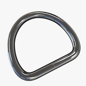 welded d rings strap 3D