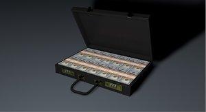 briefcase money 3D