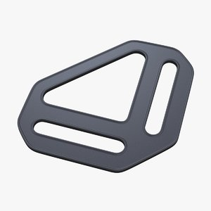 3D triangle slide adjust buckle model