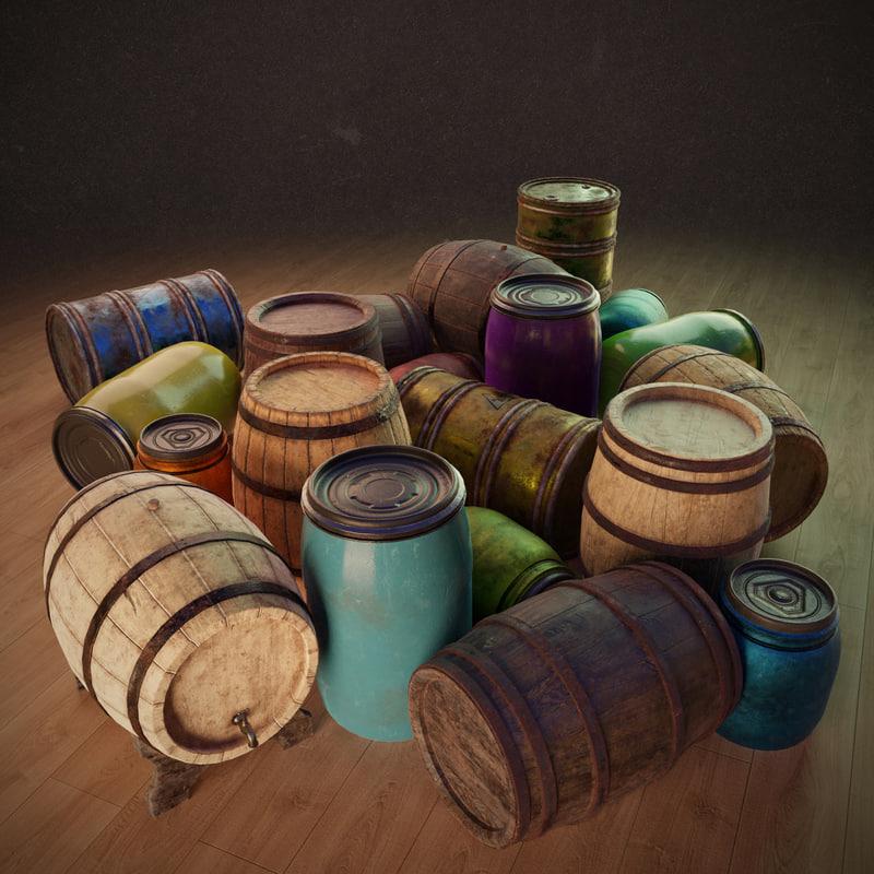 3D pack barrels pbr