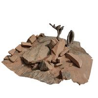 3D photo rock pile