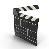 3D model clapperboard clapper board