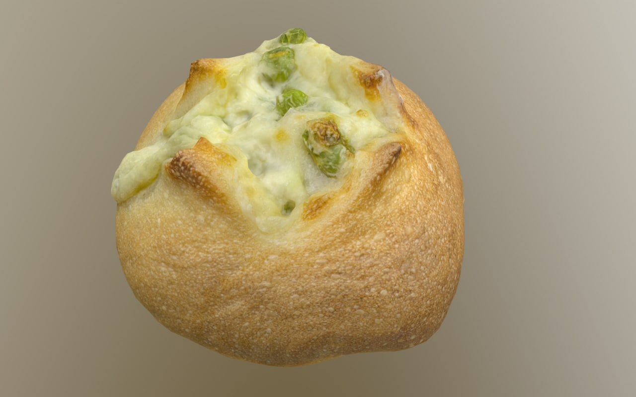 3D model 8k edamame bean bread