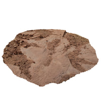 3D photo scanned desert ground model