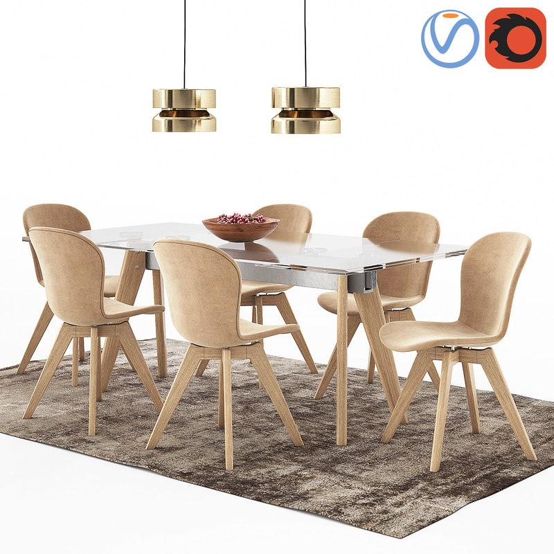 Table boconcept monza adelaide model turbosquid 1240587 - Boconcept mobel ...
