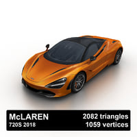 2018 mclaren 720s 3D model