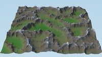 landscape games background 3D model