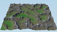 landscape games background 3D model