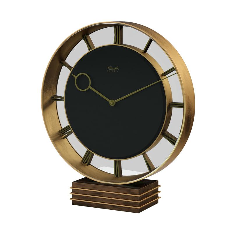3D art deco clock kienzle