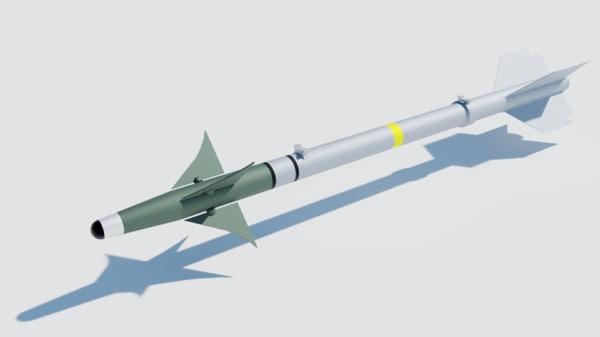aim-9 sidewinder missile 3D model
