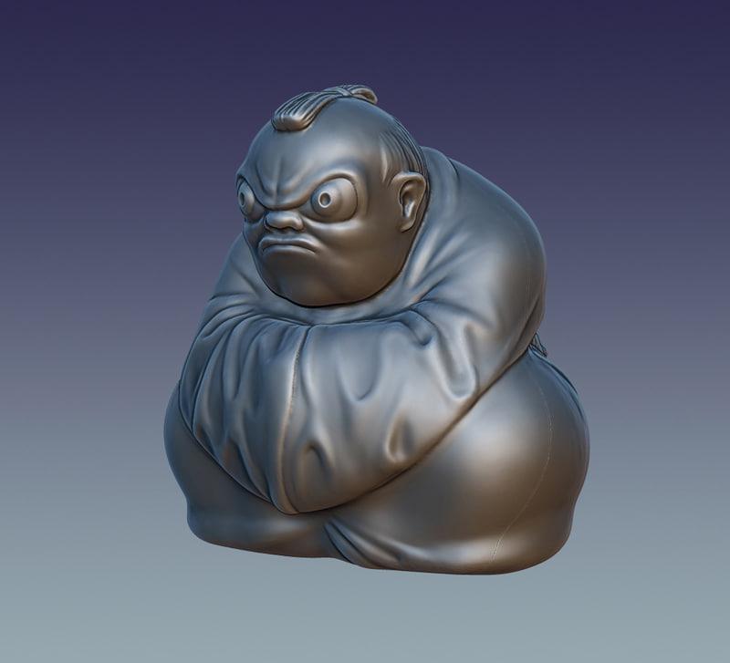 japanese figurine 3D model