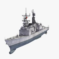 taiwanese tso ying destroyer 3D
